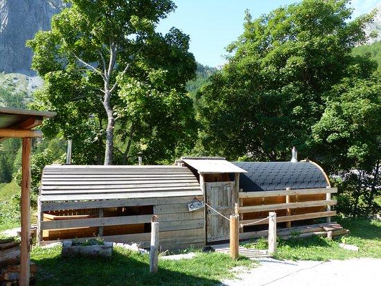 Acceglio, Italie : La sauna