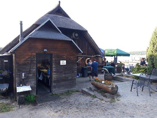 Schorfheide, Jerman: Restaurant vom Eingang Landseite aus