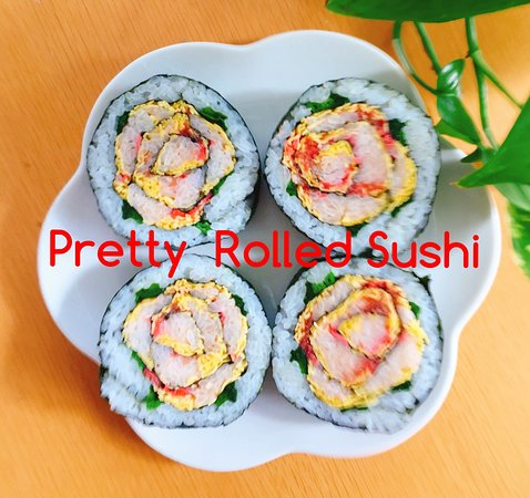 Pretty Rolled Sushi with Noriko