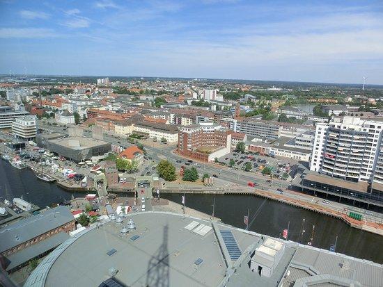 Blick auf Bremerhaven / Nordost