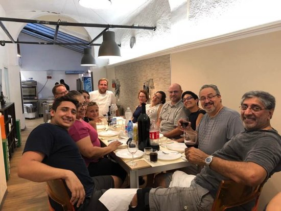 Tuscan Cooking Class and Dinner in Florence: Happy and stuffed cooking group from California - Bay Area Thanks Chef Walt!!!