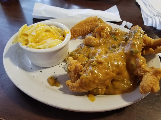 Abita Springs, Луизиана: catfish and etouffee