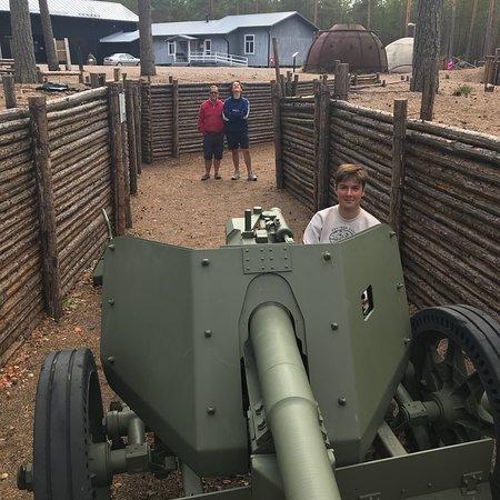 Virolahti, Finland: Great museum .... german stamped gun