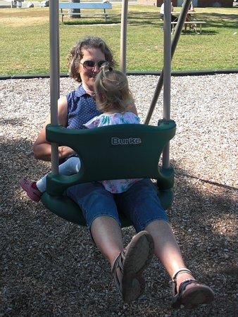 Walker City Park: two person swing