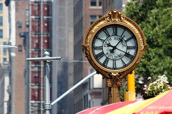 Tiffany Street Clock at 5th Ave.