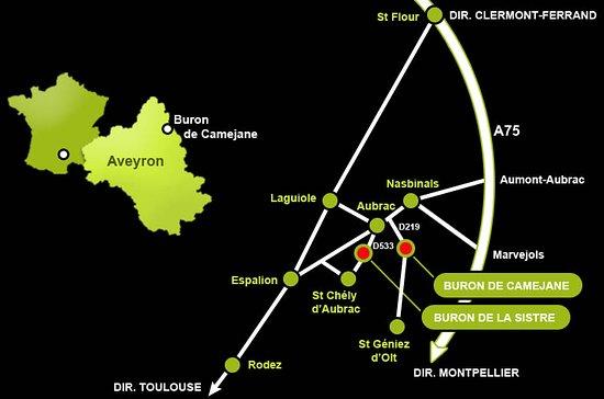 Aubrac, Francia: Plan d'accès