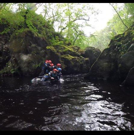 Gartmore, UK: Team dive