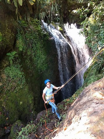Cuetzalan del Progreso, Meksyk: Rappel en La Escondida