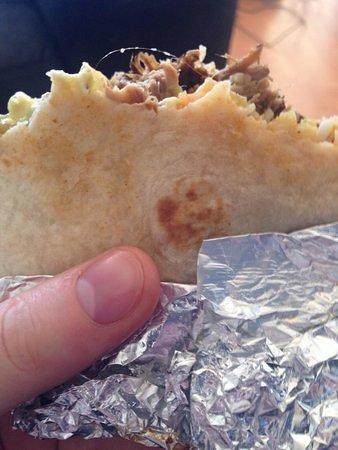 Espanola, NM: Burrito with hair