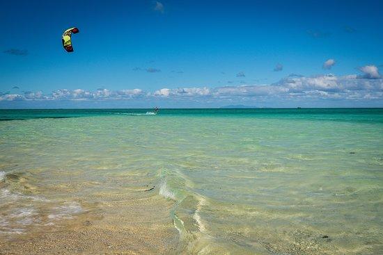 Leleuvia Island, فيجي: Kitesurfing in Leleuvia