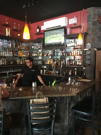 Diego's Spirited Kitchen: The bar as you enter the restaurant