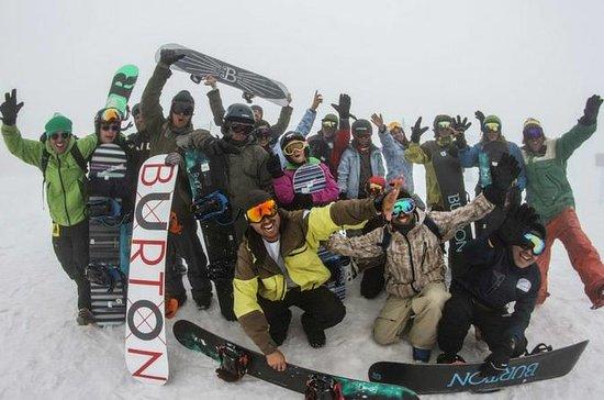 Lección de snowboard con almuerzo y...