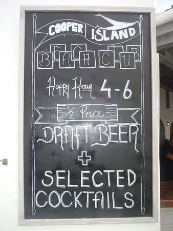Happy Hour on Cooper Island!!!