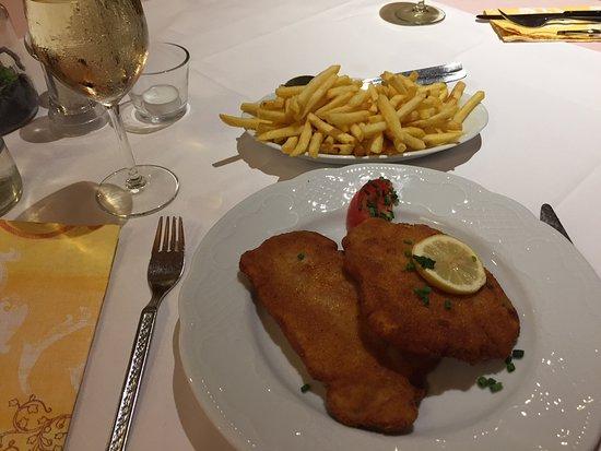 Hausach, Germany: leckeres Schnitzel mit Pommes und Salat