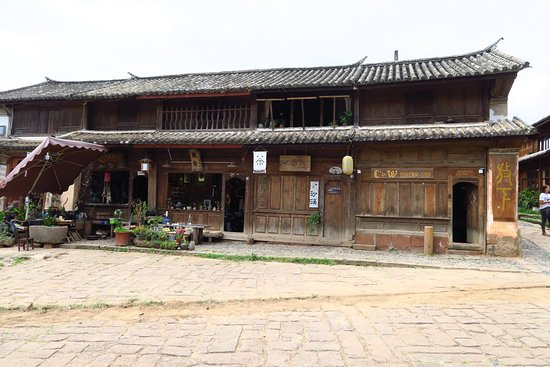 Yunnan Shaxi Ancient Town: Plenty of ancient wooden buildings like this one