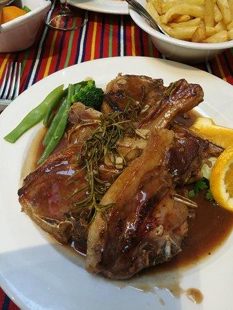 Tasca Literaria Dona Joana Rabo-de-Peixe: Rosemary lamb, absolutely perfect!!