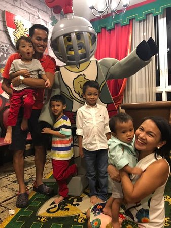 Audi's 7th Birthday surprise visit and greeting from Lego Knight!!! =)