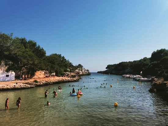 The nearby Cala en Blanes