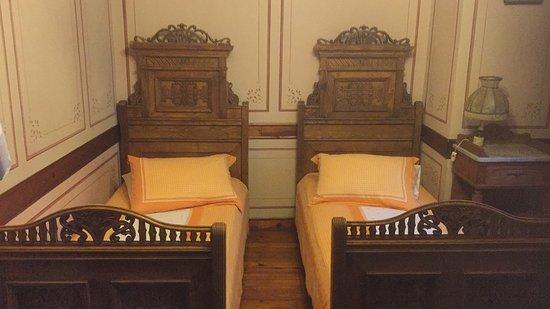 Hebros Hotel: Quaint twin beds!
