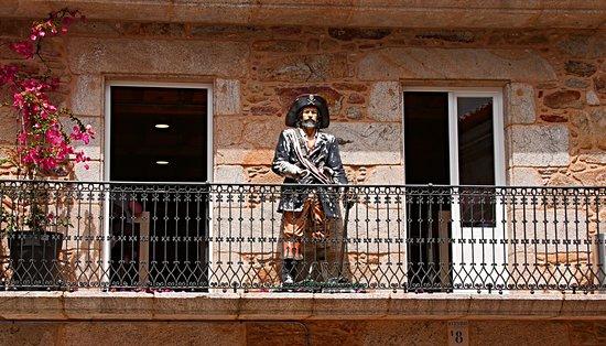 Corcubion, Испания: Exterior de la primera planta de O Ribeiro