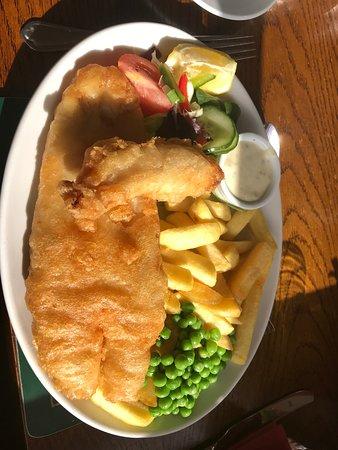Dunbeath, UK: Fish and chips