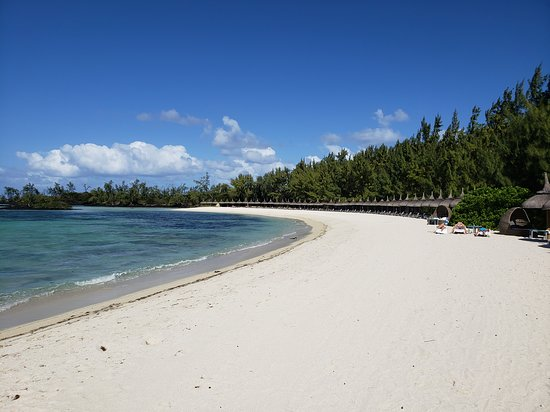 Private beach on Ile Aux Cerfs used by Bubble Lodge and Anahita guests.