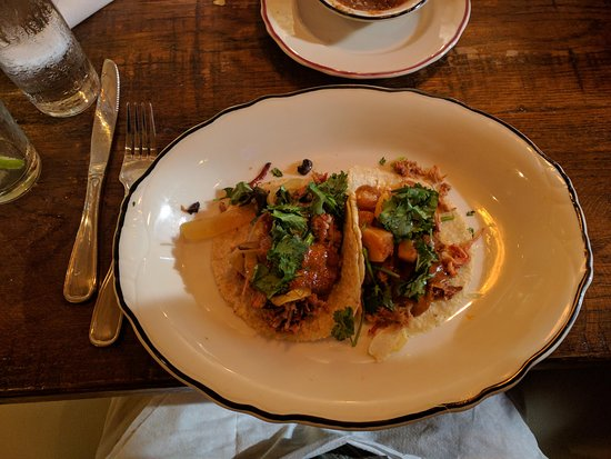 Homewood, AL: tacos on real plates with real cutlery.
