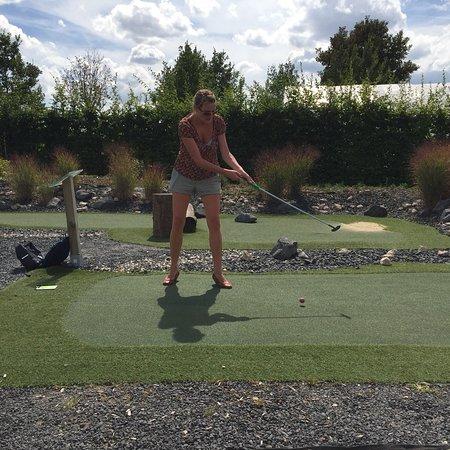Zulpich, Germany: Adventure Golf, Parcours mit Kunstrasen, eine kleine Reise um die Welt.