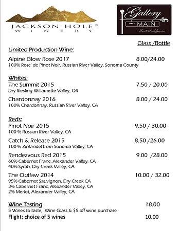 Dayton, WY: Wine List
