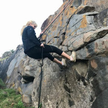 Morgan's Bay, South Africa: Feel adventures, abseiling can be organised for the not so faint hearted