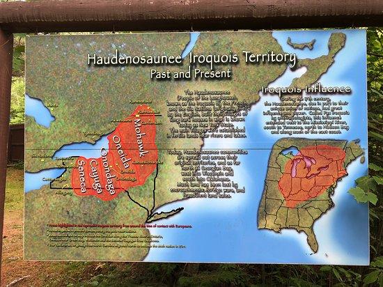 Vermontville, นิวยอร์ก: Map of Iroquois Confederacy territory