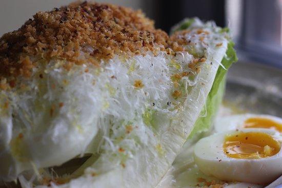 4 Bells: Caesar salad, Bagna Cauda, Pecorino Romano, Egg, Breadcrumb