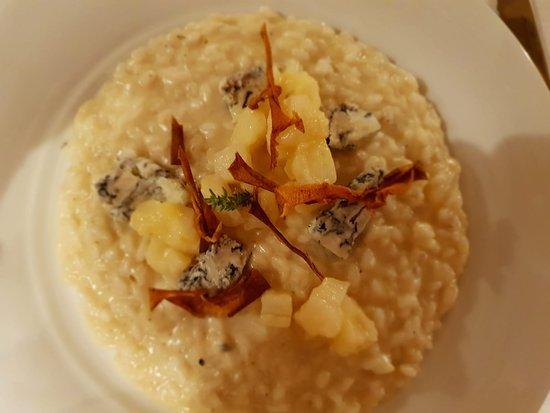 Fiumicello, อิตาลี: risotto gorgonzola e pere
