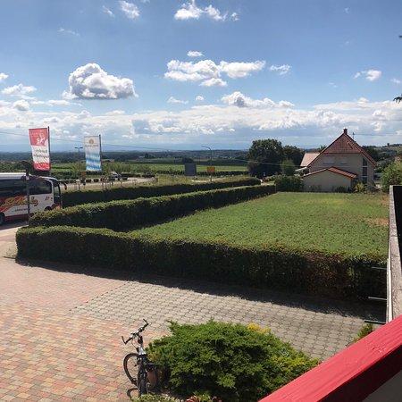 Schweigen-Rechtenbach, Germany: Schöne Terrasse mit Blick in die Rheinebene