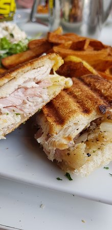 Portarlington, Ireland: Turkey and ham toastie