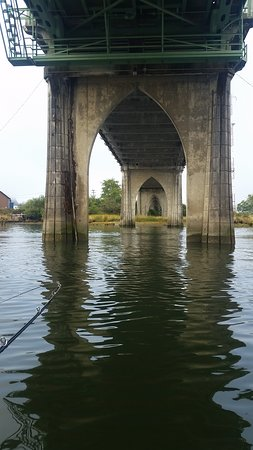 View from under bridge toward reedsport