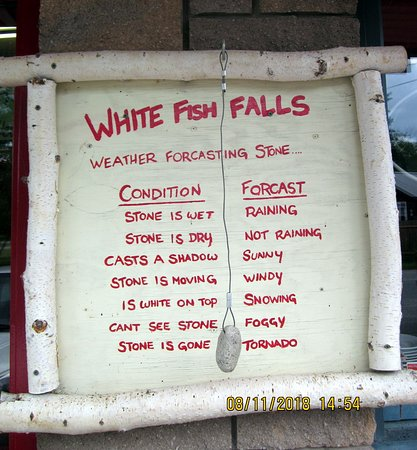 Whitefish Falls, Canada: At the door to the Red Dog -- this illustrates its cheerful atmosphere!