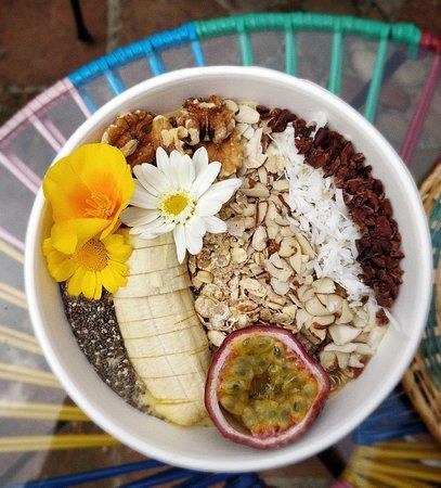 chia seeds, dry nuts & Acai bowl  ... heaven!