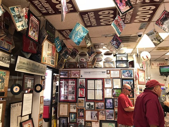 Rama Jama: One view of the inside. It's loaded with Bama memorabilia! Great Place!