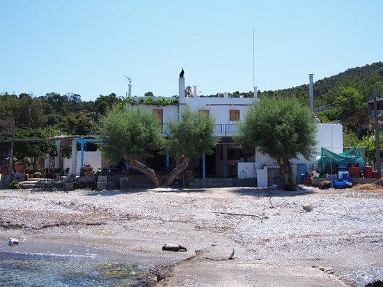 Atsitsa, Greece: Small tavern in a tiny village, nice setting