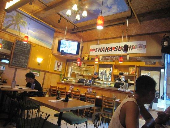 Shaka Sushi Small Restaurant Near The Bus Depot Of Wharf Center In Lahaina