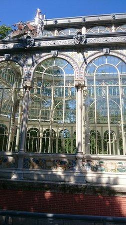 Retiro Park (Parque del Retiro): Palacio de Cristal finitura del tetto con piombo e vetro
