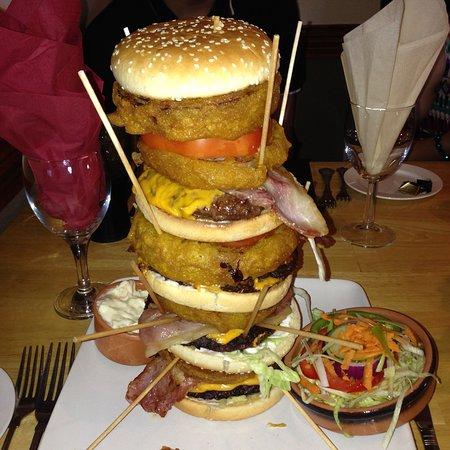 Monster burger done!