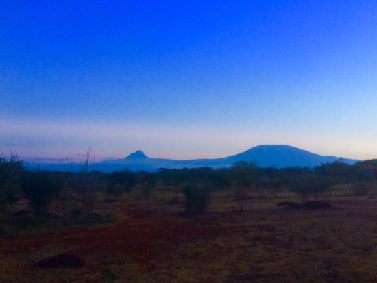 Oloitokitok, Kenya: We are blessed with a breathtaking view of Mount Kilimanjaro from our camp.