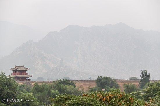 Huailai County, China: The wall and the mountains