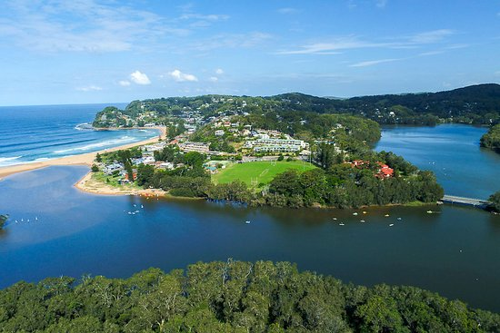 Idyllic lake located beside Avoca beach and shopping precinct