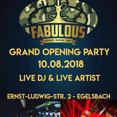 Egelsbach, Jerman: Flyer der Opening Party