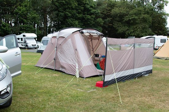 Dunstan Hill Camping and Caravanning Club Site: The tent!