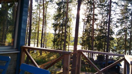 Atvidaberg, Sweden: Blick von der Restaurant-Terrasse