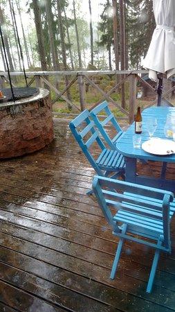 Atvidaberg, Sweden: kurzer Regenguss nach dem Essen